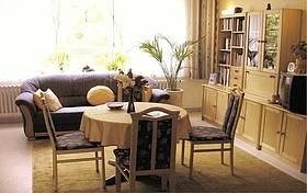 Das Wohnzimmer der PalliativstatonSPES VIVA