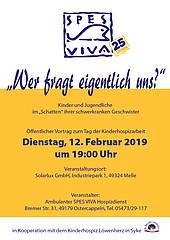 Wer fragt eigentlich uns - Plakat zur SPES VIVA Veranstaltung