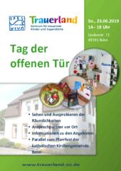 Plakat Tag der offenen Tür im SPES VIVA Trauerland